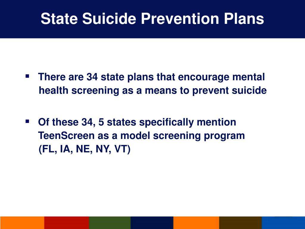 State Suicide Prevention Plans