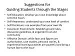 suggestions for guiding students through the stages