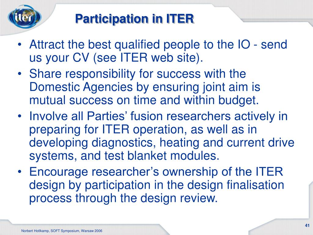 Participation in ITER