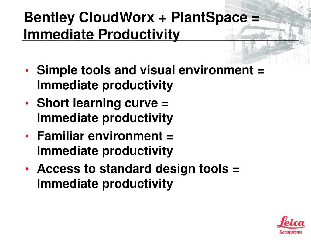 Bentley CloudWorx + PlantSpace =