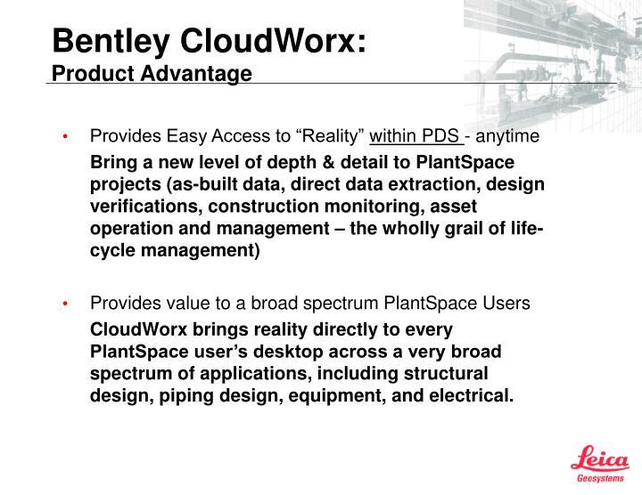 Bentley cloudworx product advantage