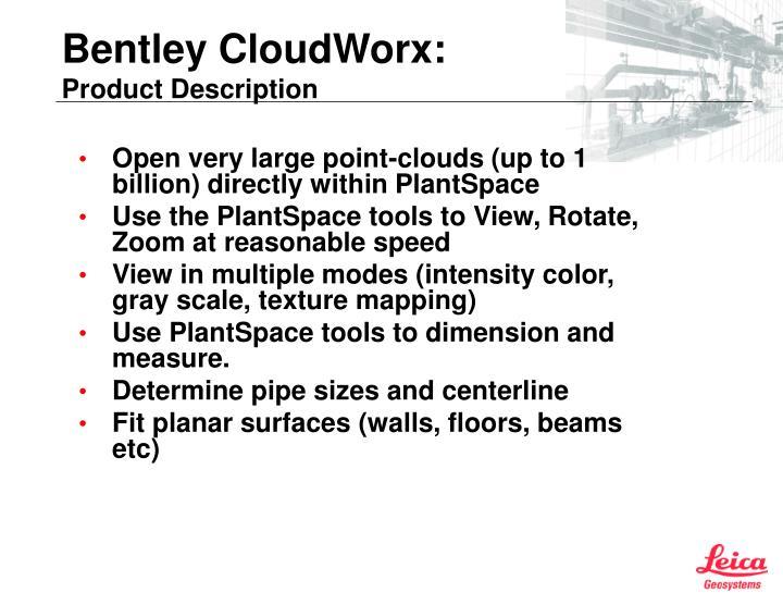 Bentley cloudworx product description