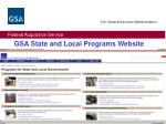 gsa state and local programs website