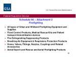 schedule 84 attachment 2 firefighting