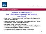 schedule 84 attachment 5 law enforcement equipment and services continued