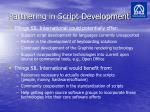 partnering in script development