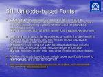 sil unicode based fonts