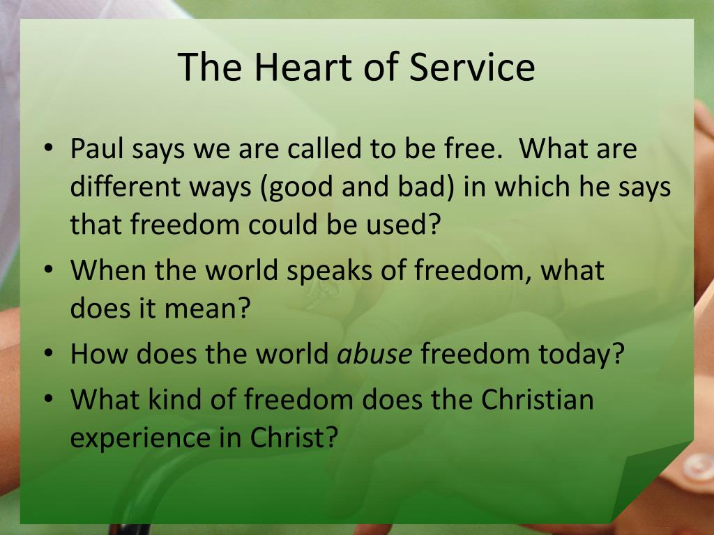The Heart of Service