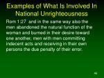 examples of what is involved in national unrighteousness46