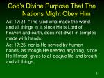 god s divine purpose that the nations might obey him