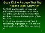 god s divine purpose that the nations might obey him10
