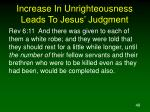 increase in unrighteousness leads to jesus judgment48