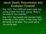 jesus death resurrection and exaltation foretold18