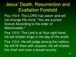 jesus death resurrection and exaltation foretold19