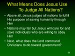 what means does jesus use to judge all nations60