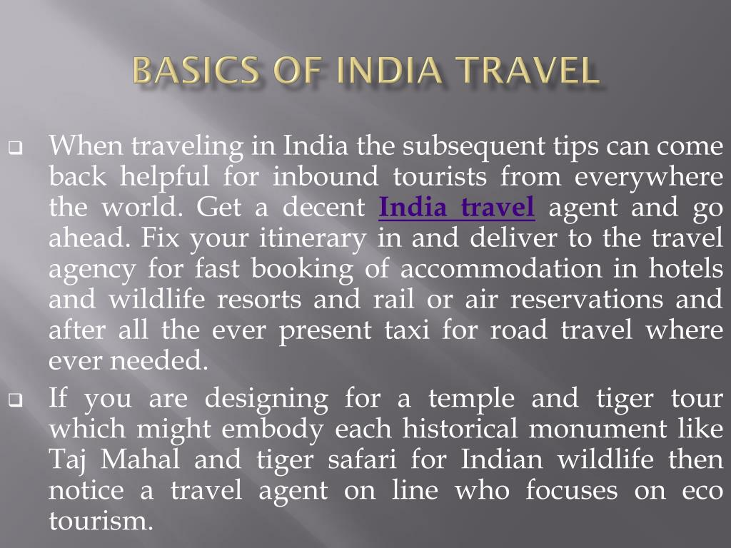Basics of India Travel