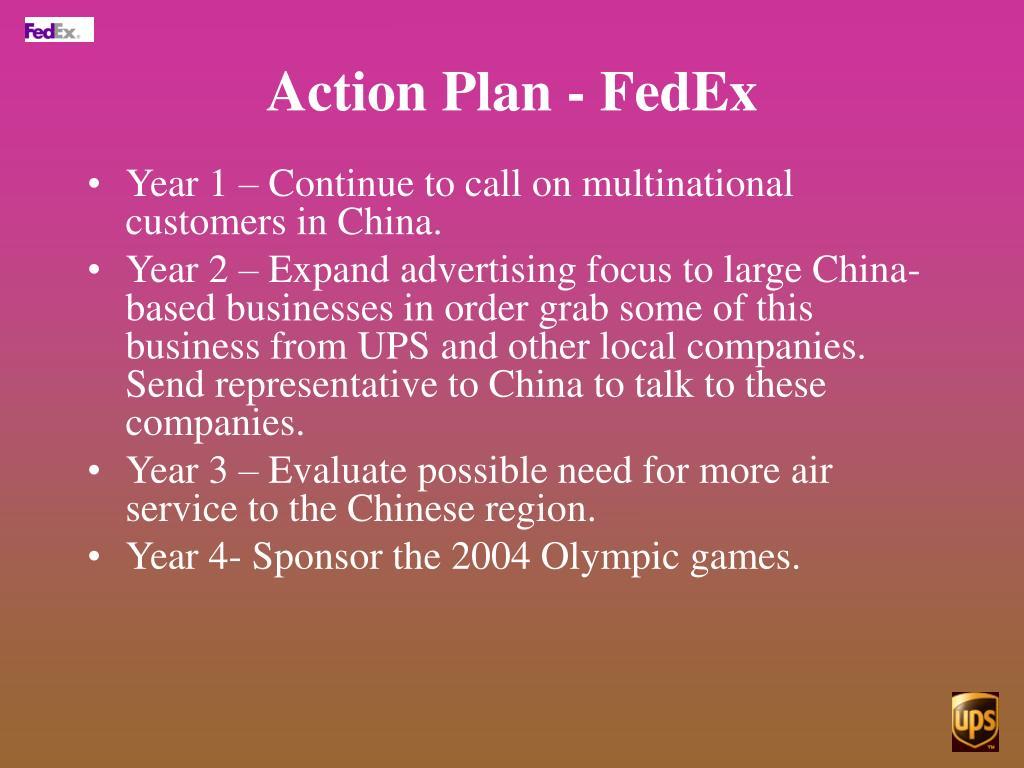 Action Plan - FedEx