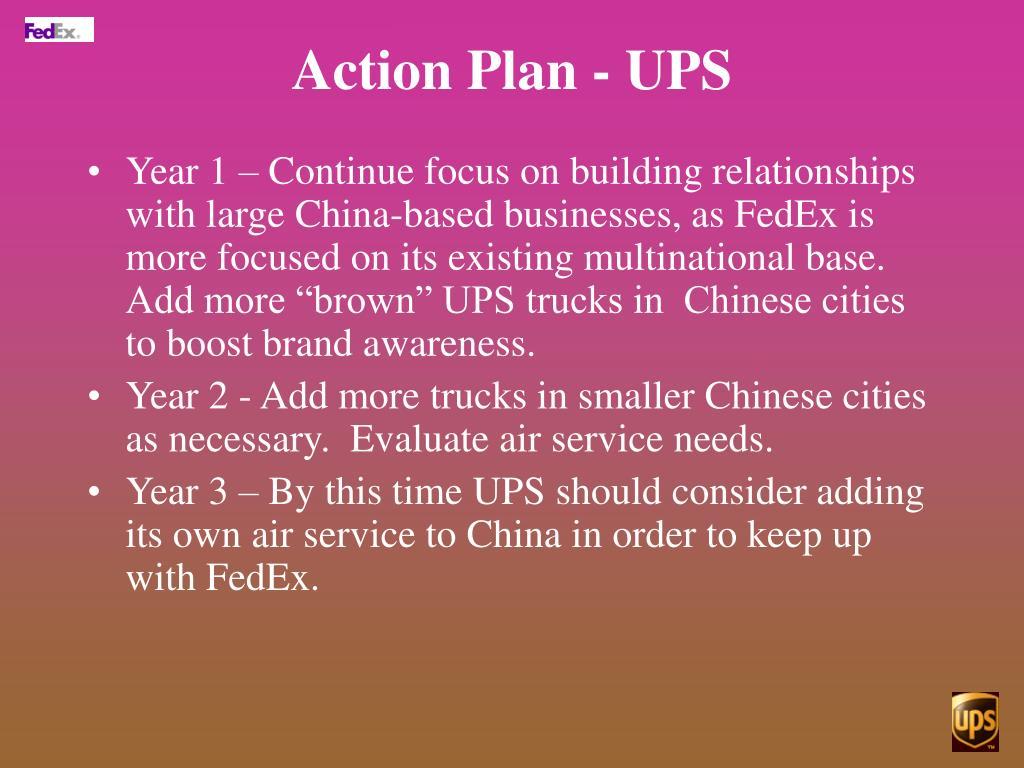 Action Plan - UPS