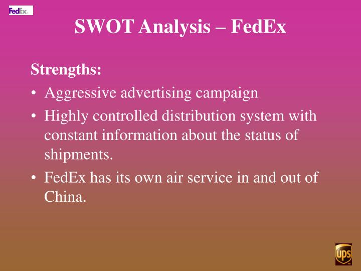 fedex vs ups competing with contrasting strategies in china Similarly, ups initially operated just within the us before expanding into canada, europe, latin america and most recently, china fedex and ups target the same markets and compete for presence in them.