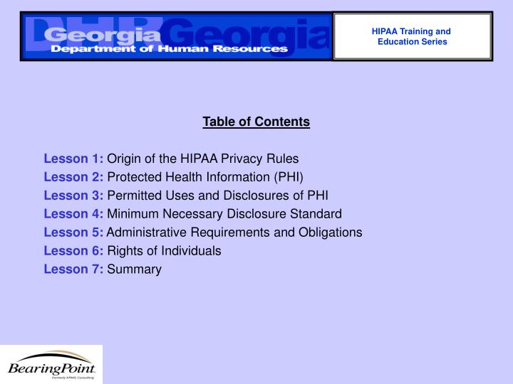 HIPAA Training and