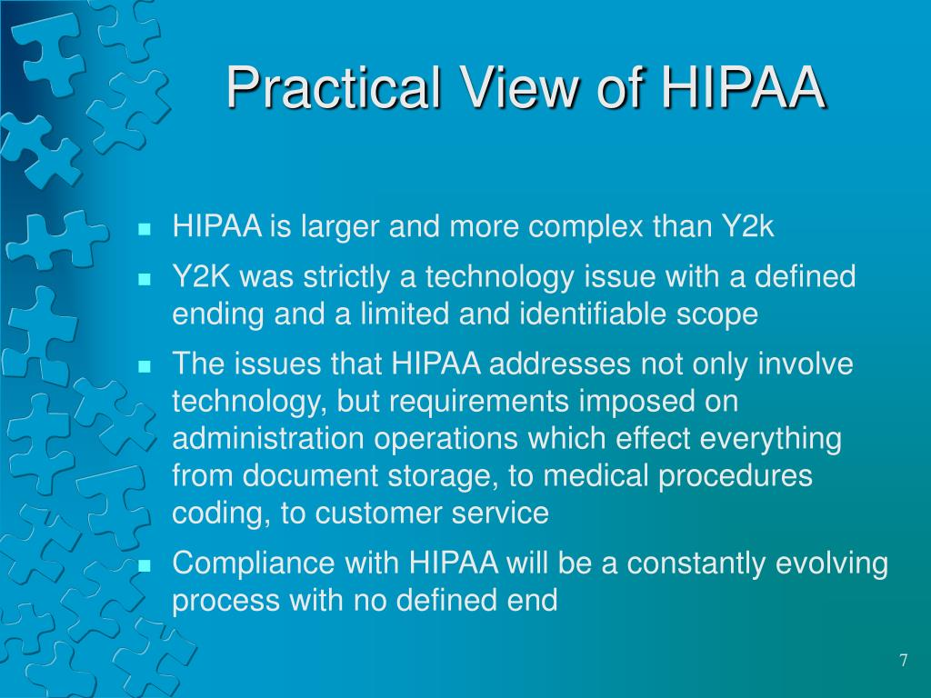 Practical View of HIPAA