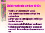 child rearing in the late 1800s