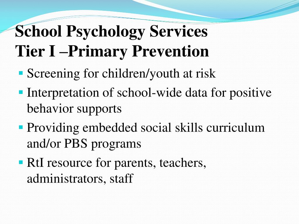 School Psychology Services