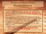 systems of measurement measurements