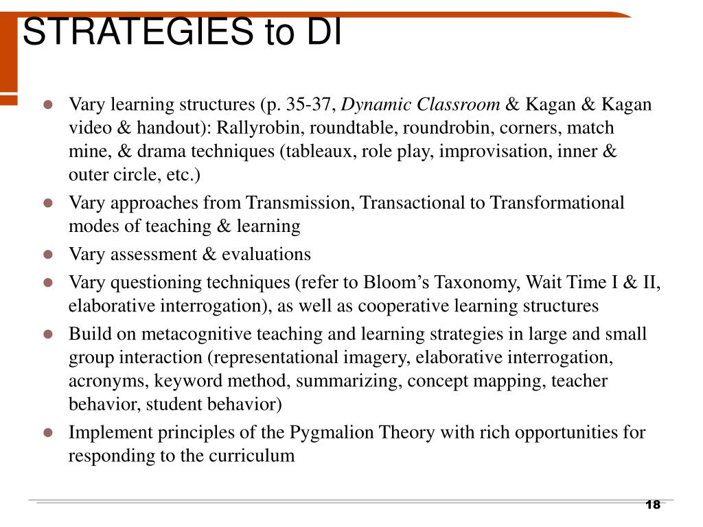 STRATEGIES to DI