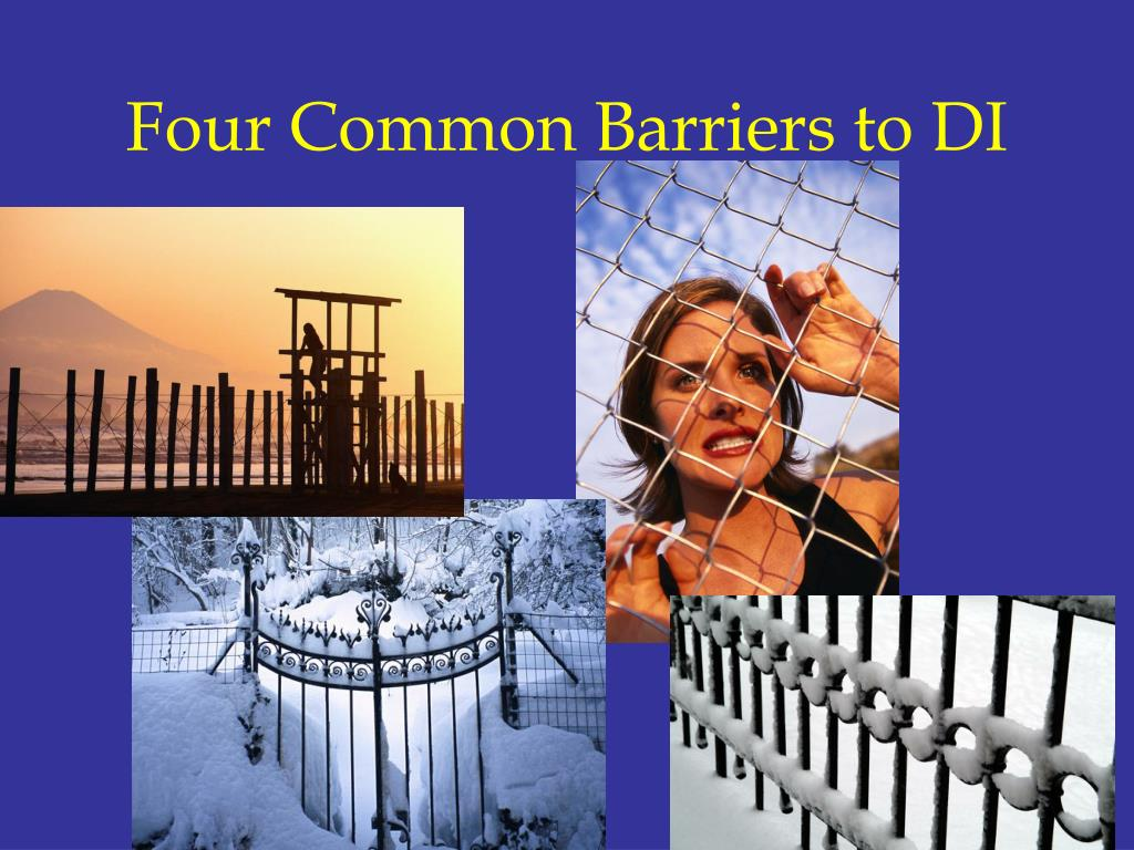 Four Common Barriers to DI