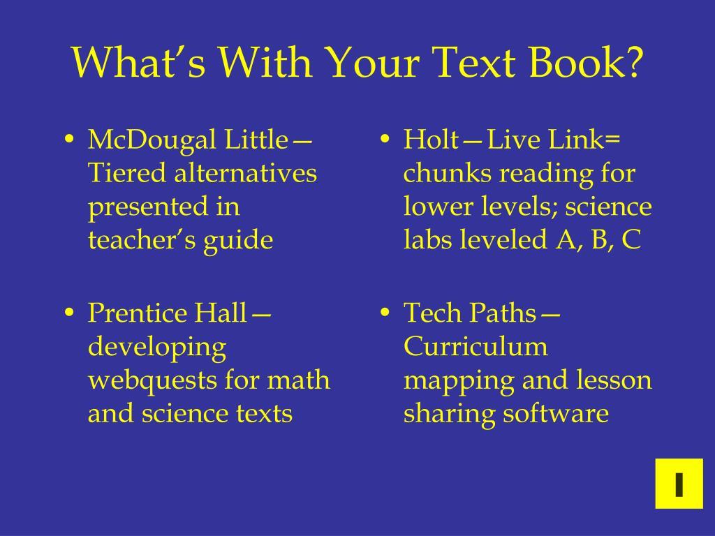 McDougal Little—Tiered alternatives presented in teacher's guide