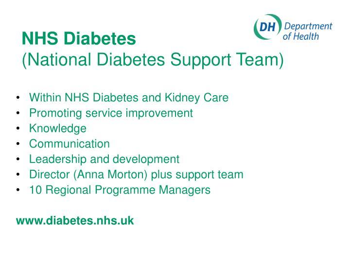 Nhs diabetes national diabetes support team