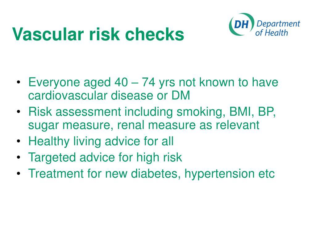 Vascular risk checks