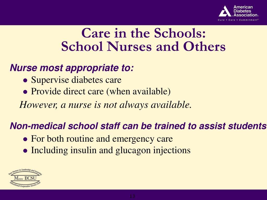 Care in the Schools: