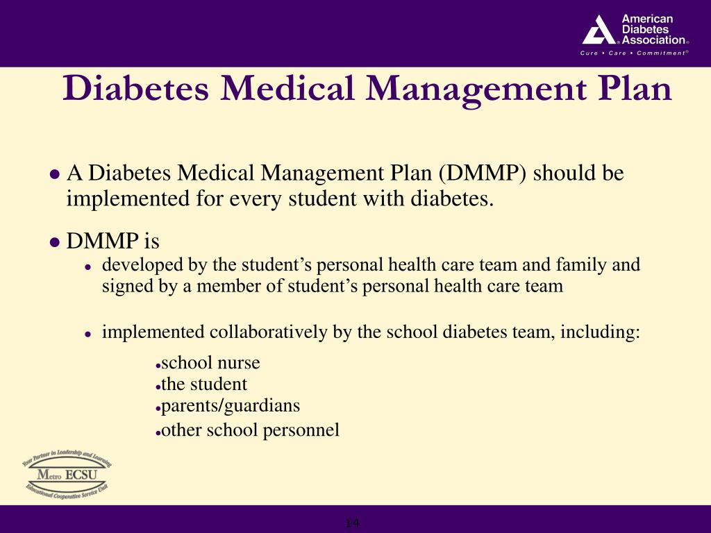 Diabetes Medical Management Plan