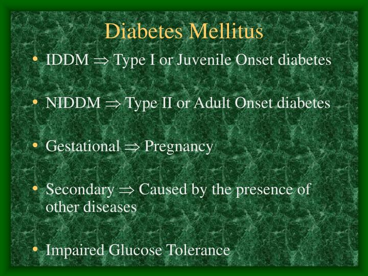a project on diabetes mellitus juvenile onset diabetes