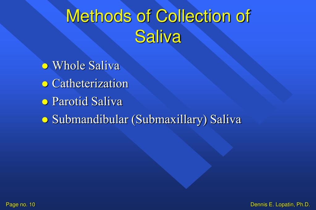 Methods of Collection of Saliva