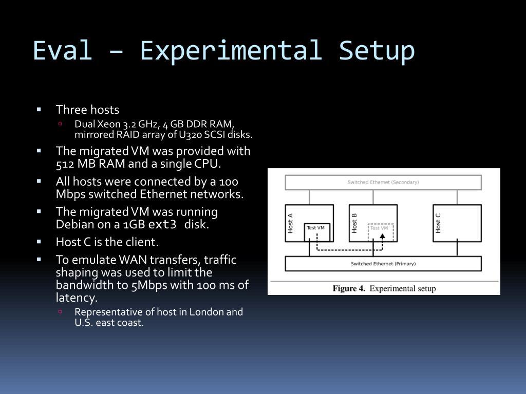 Eval – Experimental Setup