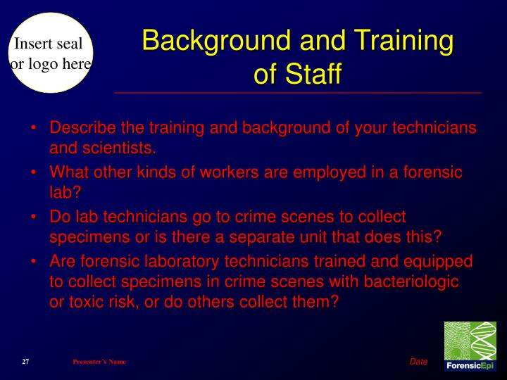 Background and Training