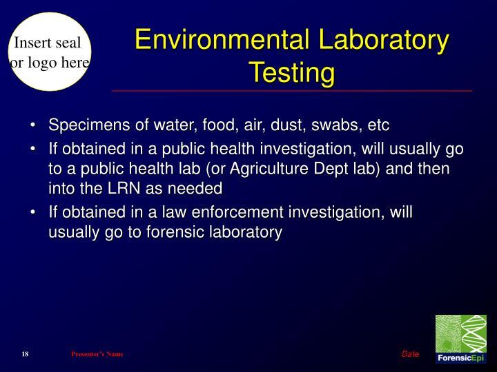 Environmental Laboratory Testing