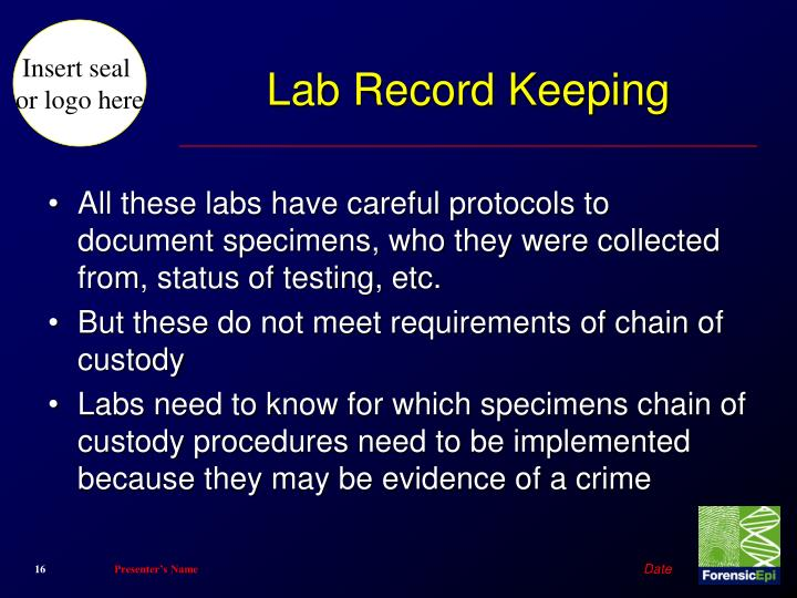 Lab Record Keeping