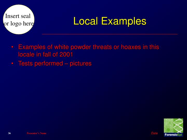 Local Examples