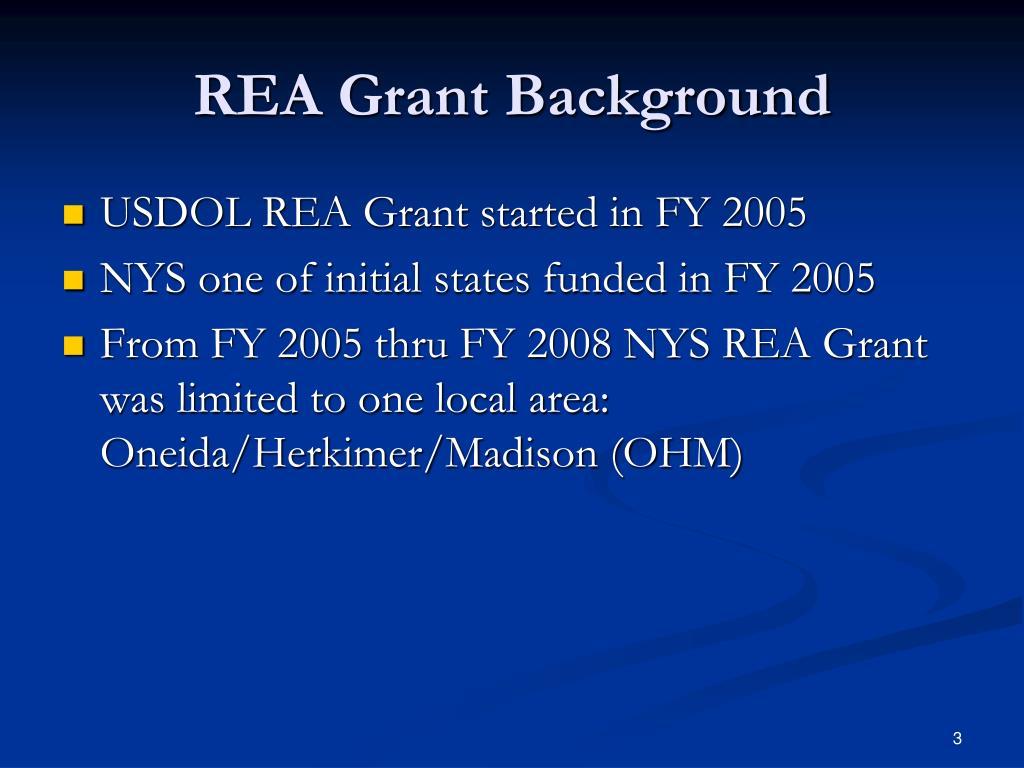REA Grant Background