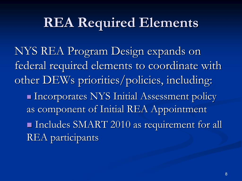 REA Required Elements