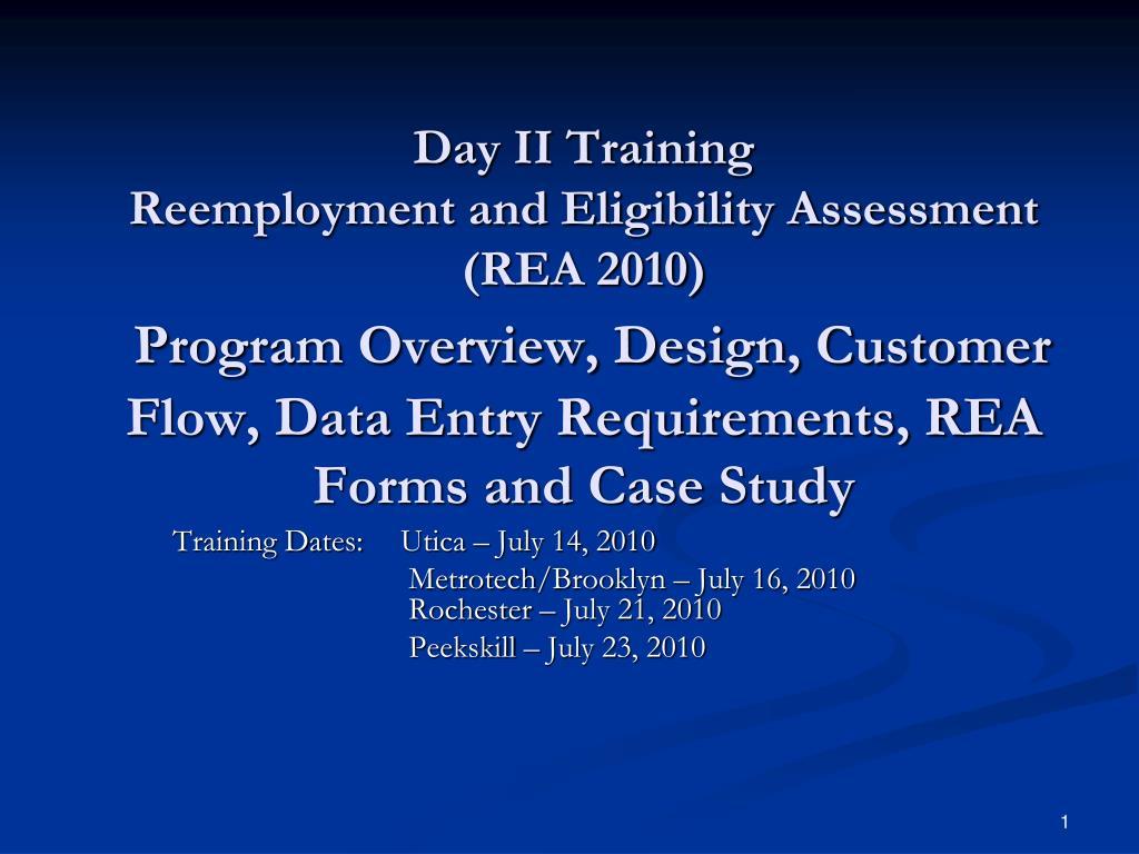 Day II Training