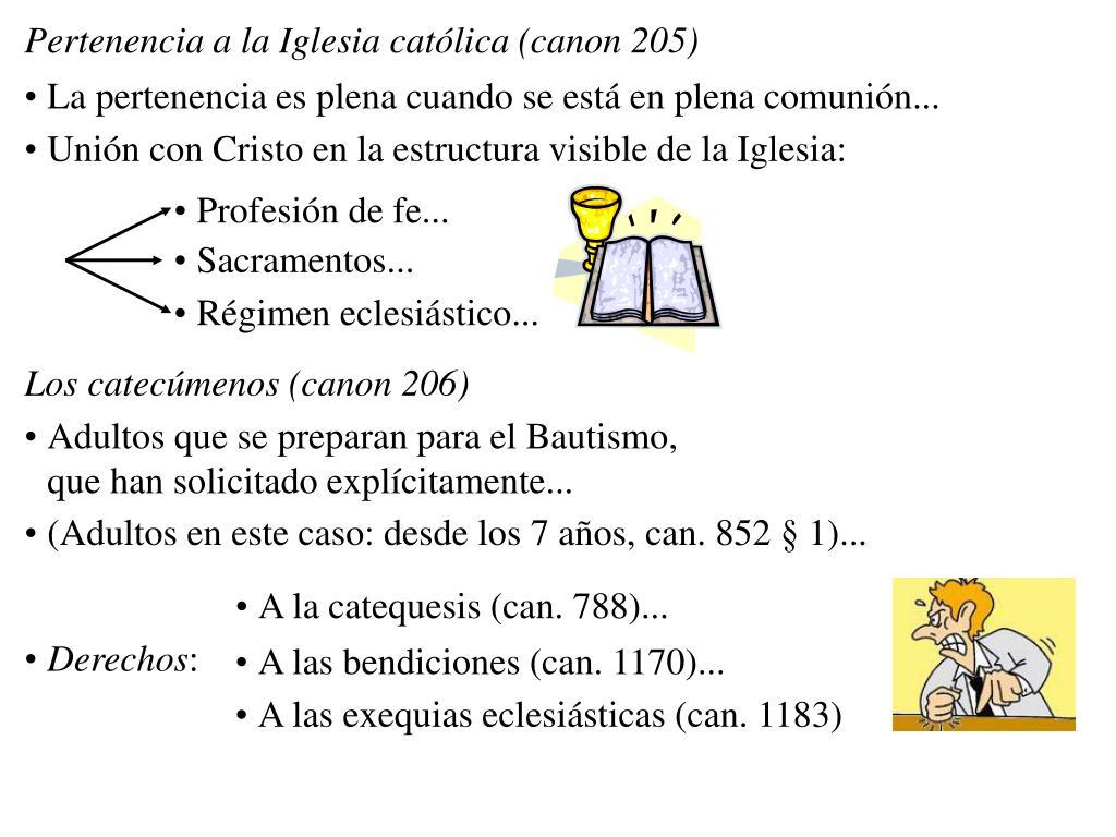 Pertenencia a la Iglesia católica (canon 205)