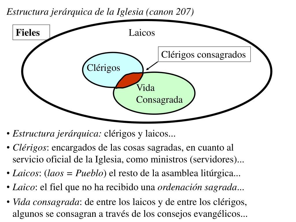 Estructura jerárquica de la Iglesia (canon 207)