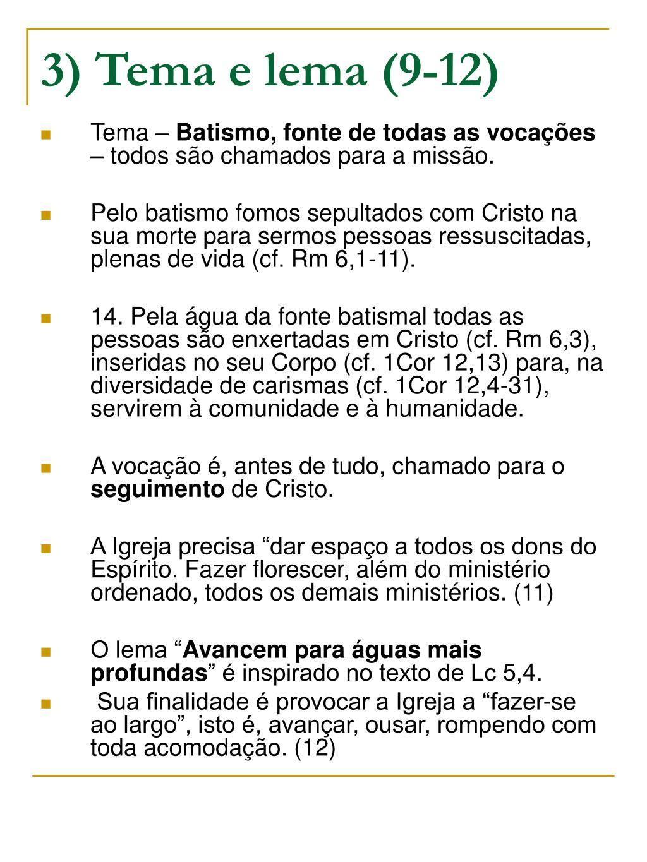 3) Tema e lema (9-12)