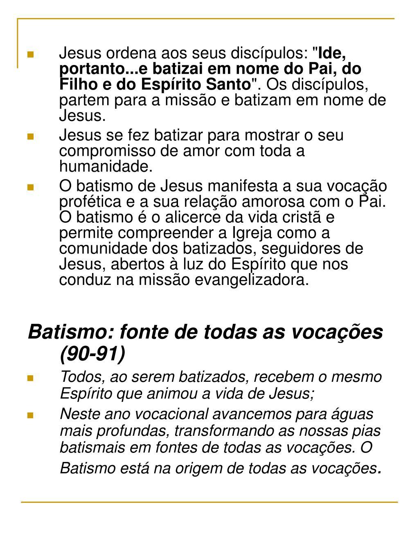 """Jesus ordena aos seus discípulos: """""""