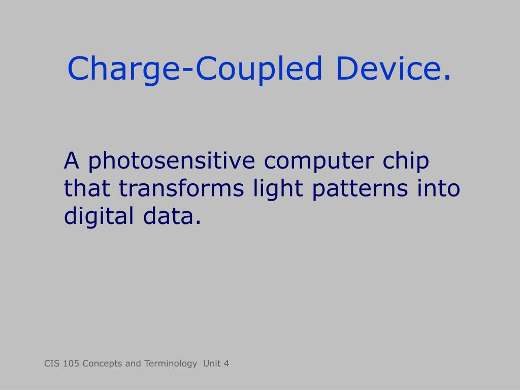 Charge-Coupled Device.
